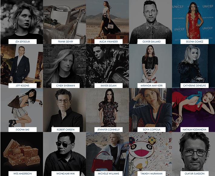 Luis Vuitton Werbegesichter und Stars