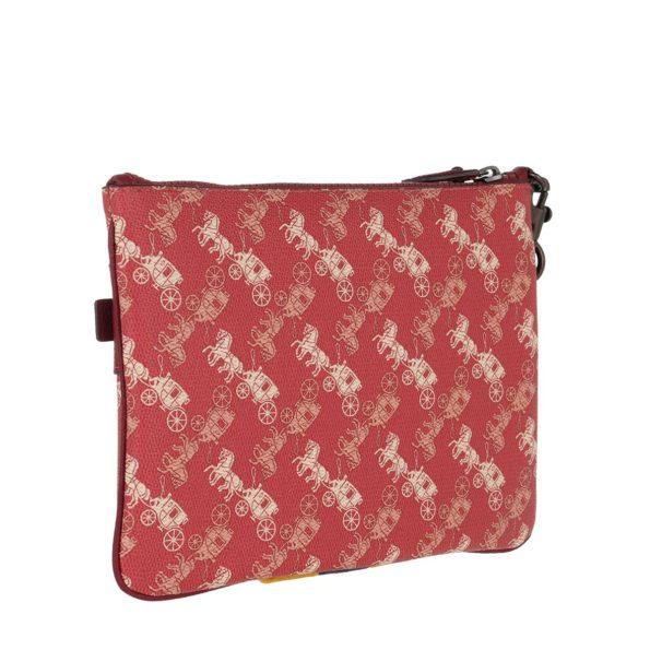 Coach-Pochette-Varsity-Stripe-Front-Zip-Clutch-Red-in-rot-fuer-Damen-25382076455-1