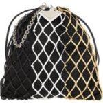 Prada Umhängetasche – Logo Plaque Mesh Bag Multi – in schwarz – für Damen
