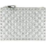 Valentino Clutch – Medium Flat Pouch Silver – in silber – für Damen