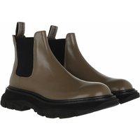 Alexander McQueen Boots & Stiefeletten - Bootie Smooth Leather - in grau - für Damen