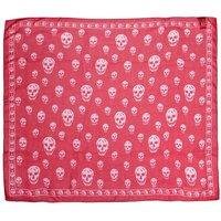 Alexander McQueen Tücher & Schals - Skull Scarf 104X120 - in pink - für Damen