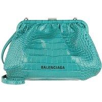 Balenciaga Crossbody Bags - Cloud Clutch With Strap Croc Print Leather - in grün - für Damen