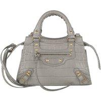 Balenciaga Crossbody Bags - Mini Neo Classic Bag Croc Embossed Leather - in grau - für Damen