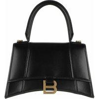 Balenciaga Satchel Bag - Hourglass Small Handle Gold Monogramm Bag - in schwarz - für Damen
