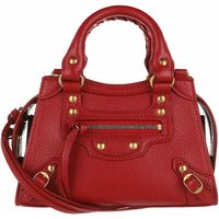 Balenciaga Satchel Bag - Neo Classic City Nano Bag Grained Calfskin - in rot - für Damen