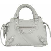 Balenciaga Satchel Bag - Neo Classic Mini Top Handle Bag Grained Calfskin - in grau - für Damen