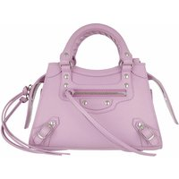 Balenciaga Satchel Bag - Neo Classic Mini Top Handle Bag Grained Calfskin - in lila - für Damen