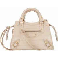 Balenciaga Satchel Bag - Neo Classic Mini Top Handle Bag Leather - in beige - für Damen