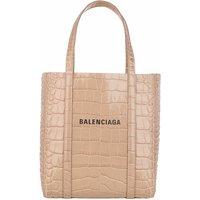 Balenciaga Tote - XXS Everyday Tote Bag Croc Print - in beige - für Damen