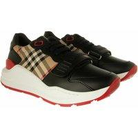 Burberry Sneakers - Vintage Check Cotton Sneakers Leather - in schwarz - für Damen