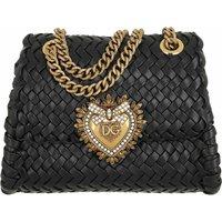 Dolce&Gabbana Crossbody Bags - Small Devotion Crossbody Bag Woven Calfskin - in schwarz - für Damen