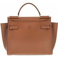 Dolce&Gabbana Satchel Bag - Sicily Medium Top Handle Bag Leather - in braun - für Damen