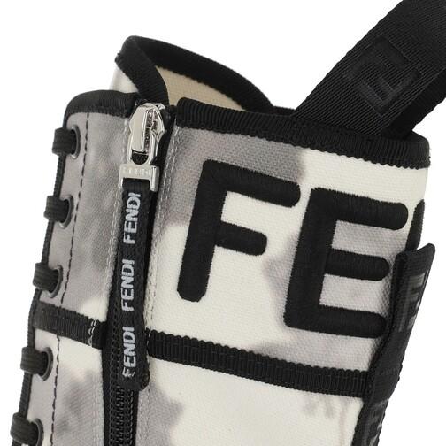 Fendi-Boots-Stiefeletten-Floral-Biker-Boots-Canvas-in-grau-fuer-Damen-30383106057-1