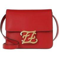 Fendi Crossbody Bags - Karligraphy Crossbody Bag Leather - in rot - für Damen