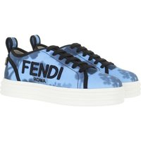 Fendi Sneakers - Canvas Flatform Sneakers - in blau - für Damen