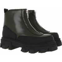 GANNI Boots & Stiefeletten - Zipper Boots Brush Off - in grün - für Damen