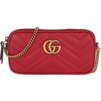 Gucci Crossbody Bags - GG Marmont Crossbody Bag Leather - in rot - für Damen
