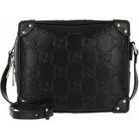 Gucci Crossbody Bags - GG Shoulder Bag Embossed Leather - in schwarz - für Damen