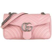 Gucci Satchel Bag - GG Marmont Small Shoulder Bag Leather - in rosa - für Damen
