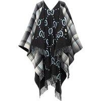 Gucci Tücher & Schals - Reversible Poncho GG Wool - in grau - für Damen