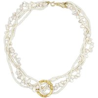 Hermina Athens Halskette - Full Moon Tangled Pearl Necklace - in weiß - für Damen