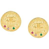 Hermina Athens Ohrringe - Kressida Small Pin Earrings - in gold - für Damen
