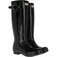 Hunter Boots & Stiefeletten - womens original tall gloss - in schwarz - für Damen