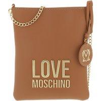 Love Moschino Satchel Bag - Borsa Bonded Pu - in cognac - für Damen