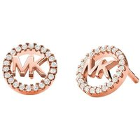 Michael Kors Ohrringe - Sterling Silver Logo Stud Earrings - in rosa - für Damen