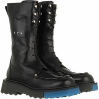 Off-White Boots & Stiefeletten - Nappa Sponge Pocket Combat Bootie - in schwarz - für Damen