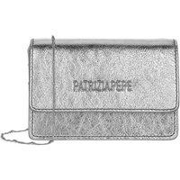 Patrizia Pepe Crossbody Bags - Mini Shoulder Bag Piping Metallic Logo - in silber - für Damen