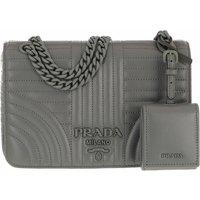Prada Crossbody Bags - Diagramme Crossbody Bag - in grau - für Damen