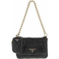 Prada Crossbody Bags - System Patchwork Bag Leather - in schwarz - für Damen