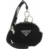 Prada Schlüsselanhänger - Mini Zipped Pouch - in schwarz - für Damen