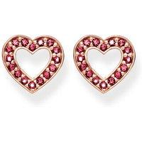Thomas Sabo Ohrringe - Ear Studs Hearts Small - in rosa - für Damen
