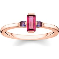 Thomas Sabo Ring - Ring Stone Baguette Cut - in rot - für Damen