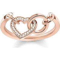 Thomas Sabo Ring - Ring Together Heart - in rosa - für Damen