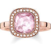 Thomas Sabo Ring - Solitaire Ring Cosmo - in pink - für Damen