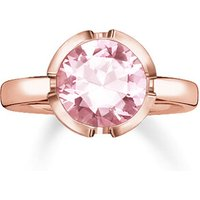 Thomas Sabo Ring - Solitaire Ring Signature Line Large - in pink - für Damen