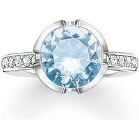 Thomas Sabo Ring - Solitaire Ring Signature Line Pavé Large - in blau - für Damen