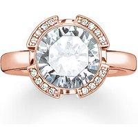 Thomas Sabo Ring - Solitaire Ring Signature Line Pavé - in weiß - für Damen