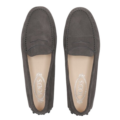 Tods-Loafers-Ballerinas-Gommini-Mocassins-Leather-in-grau-fuer-Damen-28295093883-1