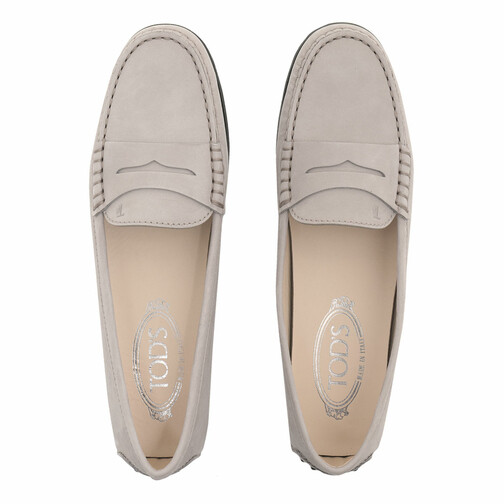 Tods-Loafers-Ballerinas-Gommino-Loafers-Nubuck-in-grau-fuer-Damen-28287547927-1