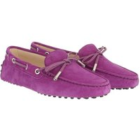 Tod's Loafers & Ballerinas - Heaven Loafer With Eyelets And Lace Bow - in lila - für Damen